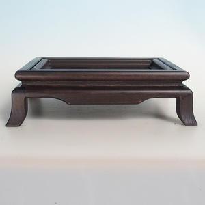 Holztisch unter Bonsai braun 25 x 19 x 8 cm