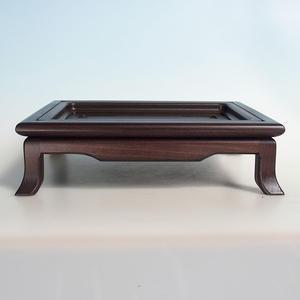 Holztisch unter Bonsai braun 32 x 25 x 9 cm