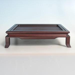 Holztisch unter Bonsai braun 39 x 31 x 10 cm