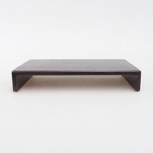 Holztisch unter Bonsai braun 17 x 11 x 3 cm