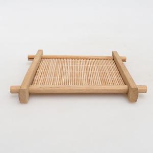Holztisch unter Bonsai braun 12,5 x 12,5 x 1,5 cm