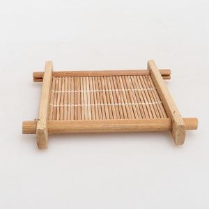 Holztisch unter Bonsai braun 8,5 x 8,5 x 1,3 cm