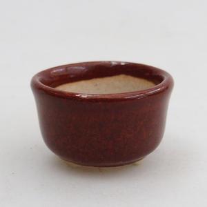 Mini Bonsai Schale 2,5 x 2,5 x 2 cm, Farbe braun