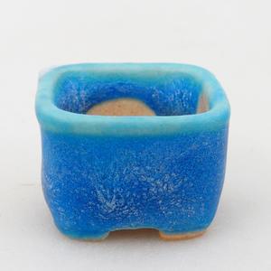Mini Bonsai Schale 2,5 x 2,5 x 1,5 cm, Farbe blau