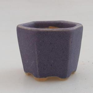Mini-Bonsaischale 4,5 x 4,5 x 3,5 cm, Farbe violett