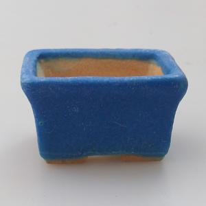 Mini-Bonsaischale 4,5 x 3,5 x 2,5 cm, Farbe blau