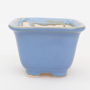 Mini-Bonsaischale 6,5 x 6,5 x 5 cm, Farbe blau