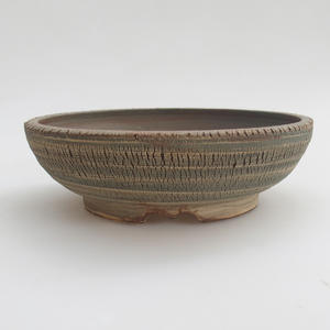 Keramik Bonsaischale 18,5 x 18,5 x 6 cm, Farbe grau