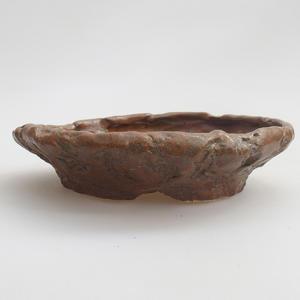 Keramik Bonsai Schüssel 17 x 17 x 4 cm, braune Farbe