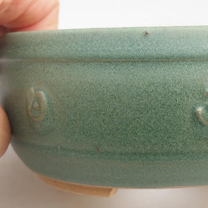 Keramik Bonsaischale 12 x 12 x 4 cm, Farbe grün
