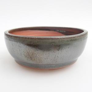 Keramik Bonsai Schüssel 11 x 11 x 4,5 cm, Farbe grün