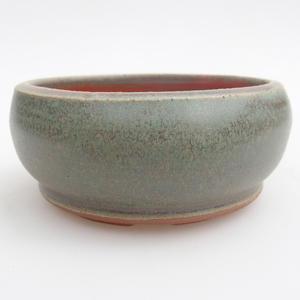 Keramik Bonsaischale 10 x 10 x 4,5 cm, Farbe grün