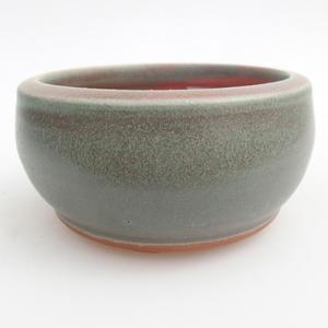 Keramik Bonsai Schüssel 10 x 10 x 5 cm, Farbe grün