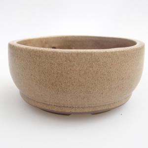 Keramik Bonsaischale 10 x 10 x 4,5 cm, Farbe beige