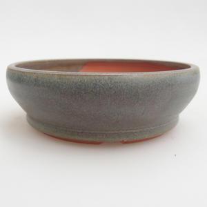 Keramik Bonsaischale 11,5 x 11,5 x 3,5 cm, Farbe grün
