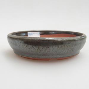 Keramik Bonsaischale 10 x 10 x 2,5 cm, Farbe grün