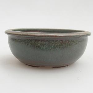 Keramik Bonsaischale 10 x 10 x 4 cm, Farbe grün