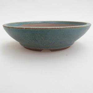 Keramik Bonsaischale 12 x 12 x 3,5 cm, Farbe grün