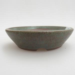Keramik Bonsai Schüssel 9 x 9 x 2 cm, Farbe grün