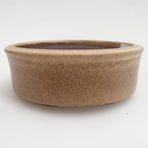 Keramik Bonsai Schüssel 11 x 11 x 4 cm, Farbe beige