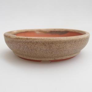 Keramik Bonsai Schüssel 11 x 11 x 3 cm, Farbe beige