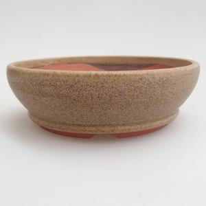 Keramik Bonsaischale 10 x 10 x 3 cm, Farbe beige