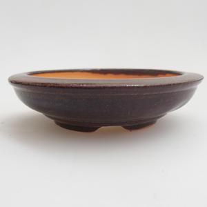 Keramik Bonsai Schüssel 8 x 8 x 2 cm, braune Farbe
