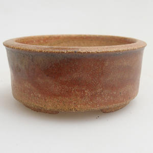 Keramik Bonsai Schüssel 6,5 x 6,5 x 3 cm, rote Farbe