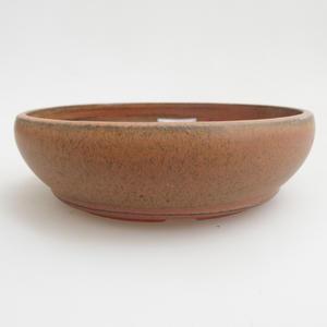 Keramik Bonsai Schüssel 12 x 12 x 3 cm, rote Farbe