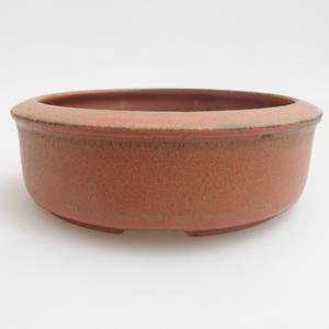 Keramik Bonsaischale 12 x 12 x 4 cm, Farbe rot