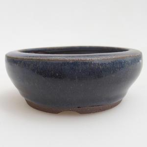 Keramik Bonsaischale 8 x 8 x 3 cm, Farbe blau