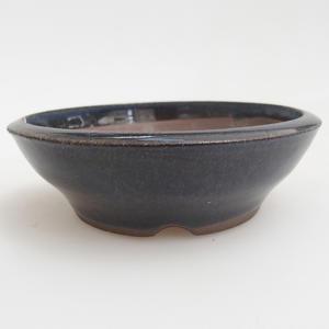 Keramik Bonsai Schüssel 10 x 10 x 3 cm, Farbe blau