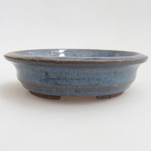 Keramik Bonsaischale 11,5 x 11,5 x 3 cm, Farbe blau