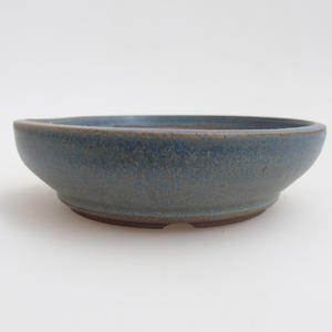 Keramik Bonsaischale 12 x 12 x 3 cm, Farbe blau