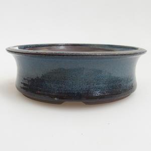 Keramik Bonsai Schüssel 13 x 13 x 4 cm, Farbe blau