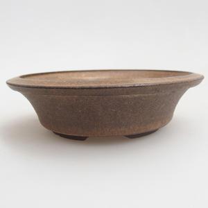 Keramik Bonsai Schüssel 10,5 x 10,5 x 3 cm, braune Farbe