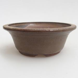 Keramik Bonsai Schüssel 11 x 11 x 4 cm, braune Farbe