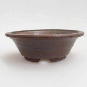 Keramik Bonsai Schüssel 12 x 12 x 4 cm, braune Farbe