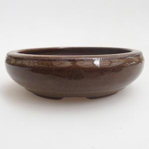 Keramik Bonsaischale 11,5 x 11,5 x 3,5 cm, Farbe braun
