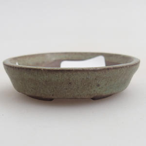 Keramik Bonsaischale 4,5 x 4,5 x 1,5 cm, Farbe grün
