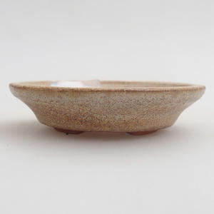 Keramik Bonsaischale 6,5 x 6,5 x 1,5 cm, Farbe beige