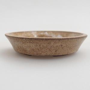 Keramik Bonsaischale 5,5 x 5,5 x 1 cm, Farbe beige