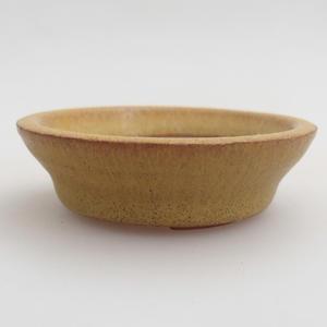 Keramik Bonsai Schüssel 5,5 x 5,5 x 1,5 cm, gelbe Farbe