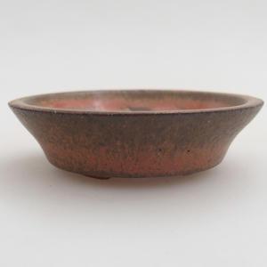 Keramik Bonsai Schüssel 6 x 6 x 1,5 cm, rote Farbe