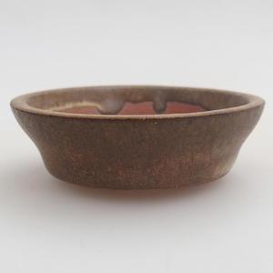 Bonsaischale aus Keramik 6 x 6 x 1,5 cm, Farbe braun