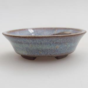 Keramik Bonsaischale 5,5 x 5,5 x 1,5 cm, Farbe blau