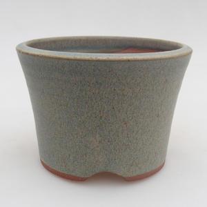 Bonsaischale aus Keramik 10,5 x 10,5 x 7,5 cm, Farbe blau
