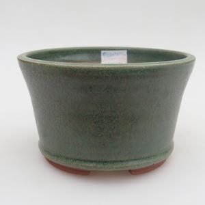 Keramik Bonsaischale 12 x 12 x 7,5 cm, Farbe grün