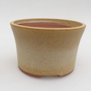 Keramik Bonsai Schüssel 13 x 13 x 8 cm, gelbe Farbe