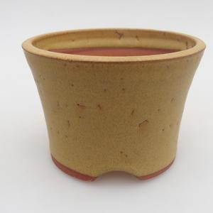 Keramik Bonsai Schüssel 10 x 10 x 7 cm, gelbe Farbe
